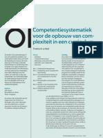 Competentiesystematiek Voor de Opbouw Van Complexiteit in Een Curriculum