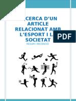 Recensió sobre l'Esport i la Societat__