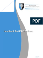 Final Handbook for RCOG Trainers Update 20110708