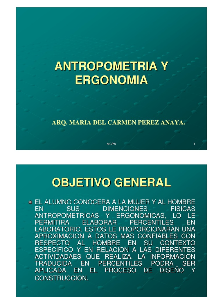 Material antropometria y ergonomia 2011 for Antropometria y ergonomia