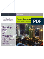 Dondy Bappedyanto - PHP on Windows