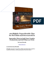 101 Slightly Unpredictable Tips for Novelists and Screenwriters