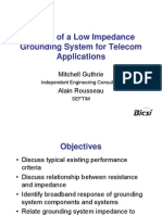 Design of a Low Impedance Grounding System for Telecom Applications - Mitchell Guthrie and Alain Rousseau