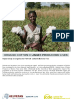 Helvetas Impact Study on Organic and Fairtrade Cotton in Burkina Faso, 2008