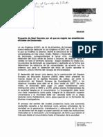 Proyecto Real Decreto Doctorado