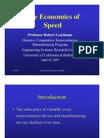 Economics of Speed