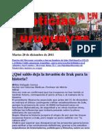Noticias Uruguayas Martes 20 de Diciembre de 2011