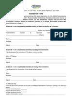 Nomination Form 2012