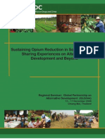 Sustaining Opium Reduction in South East Asia