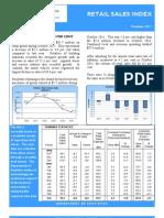 Retail Sales Index October 2011