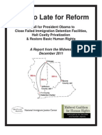 NIJC-MCHR Not Too Late for Reform Report