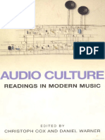 Audio Culture Readings in Modern Music 1