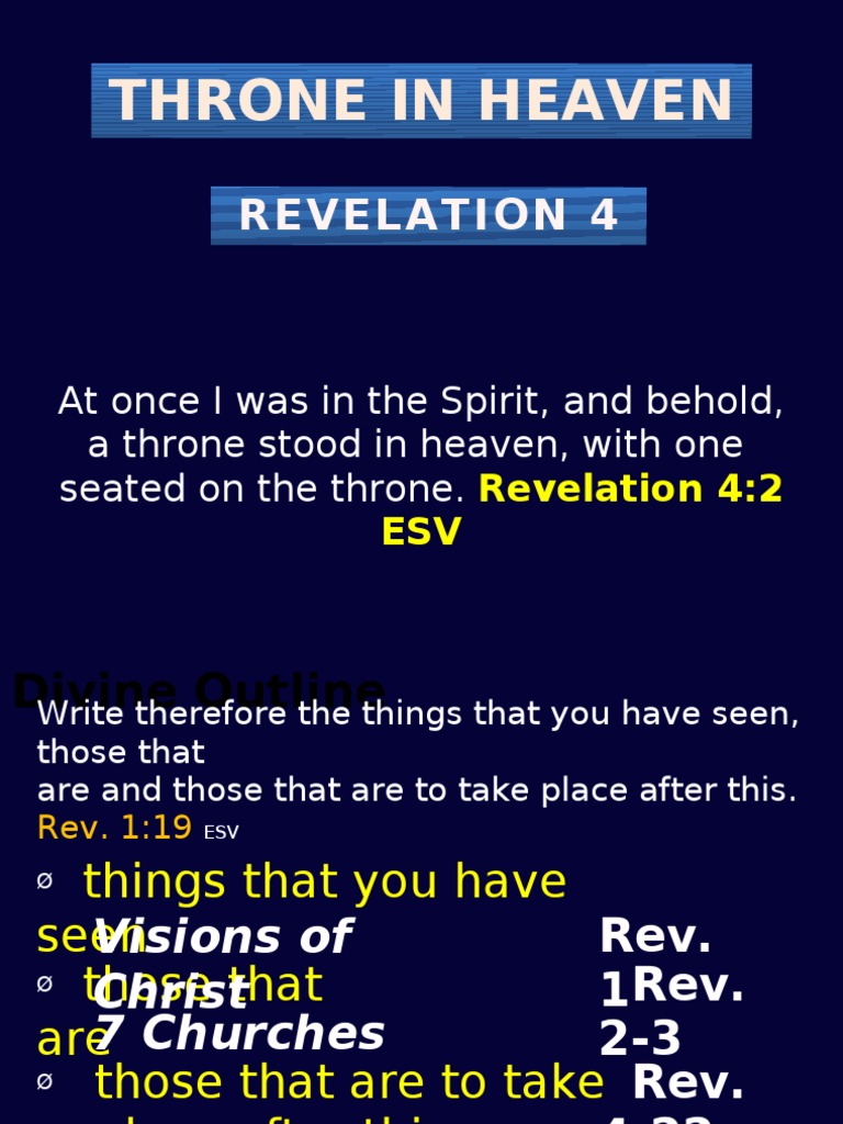 Rev 4 | Glory (Religion) | Systematic Theology