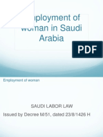 Employment of Woman in KSA