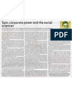 Spin, Corporate Power and the Social Sciences - Society Matters No 11 2008-9, p15