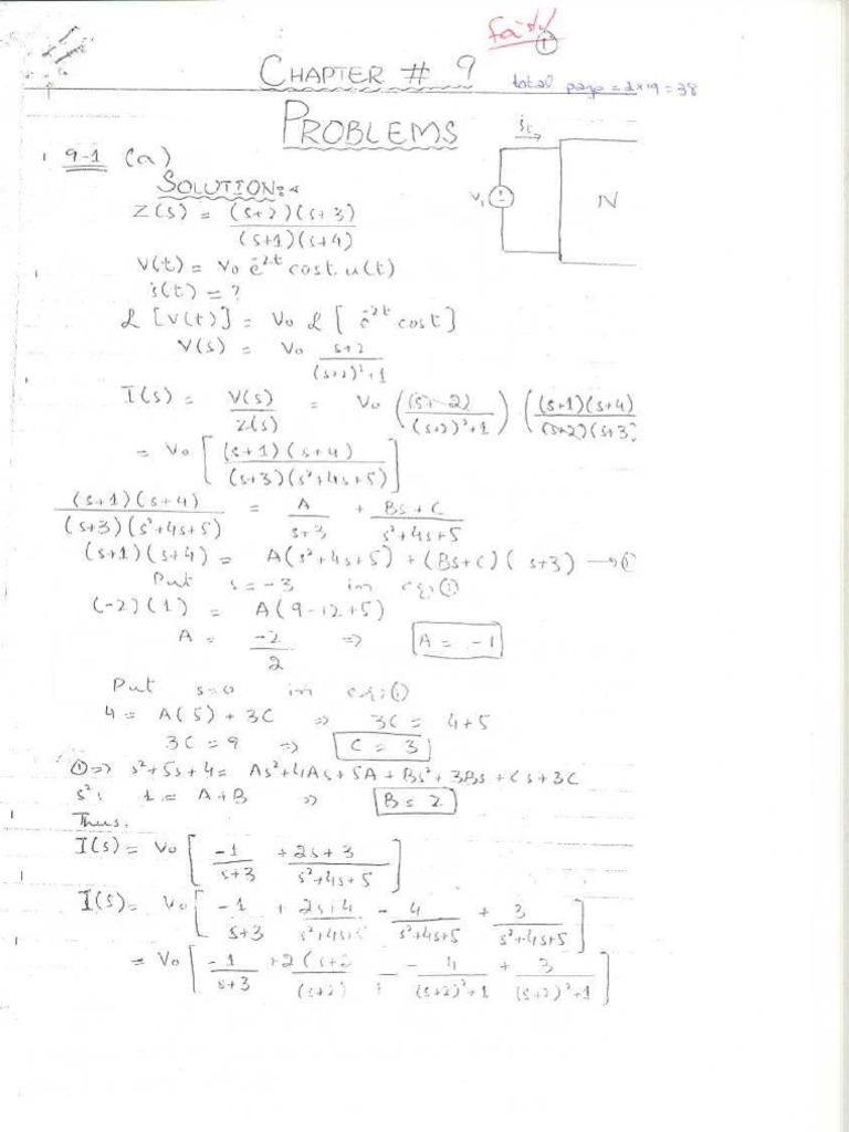 solution manual of network analysis by van valkenburg chap 9 rh pt scribd com Carolyn Van Valkenburg Van Valkenburg Navy