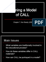 Defining a Model of CALL