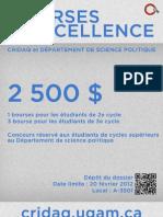 Bourses CRIDAQ/Département de science politique