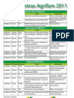Palestras - Agrifam - Folder - Tabela