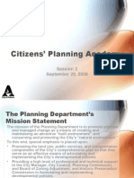 Citizen's Planning Academy Session 2