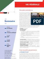 Le rapport d'activité « Vie fédérale »