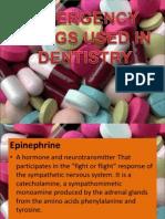 Emergency Drugs Used in Dentistry