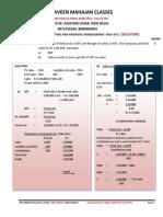 Pravinn Mahajan CA Ipcc Cost &; Fm Nov 2011 Solution