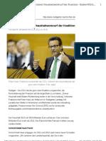 Opposition kritisiert Haushaltsentwurf der Koalition
