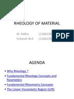 Rheology of Material