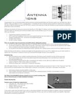 Antenna Generic Instructions