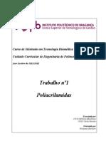 trabalho de poliacrilamidas