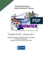 8th Grade Winter Packet
