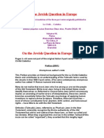 On the Jewish Question in Europe