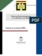 Informe de actividades Centro de Capacitación Judicial de La Pampa