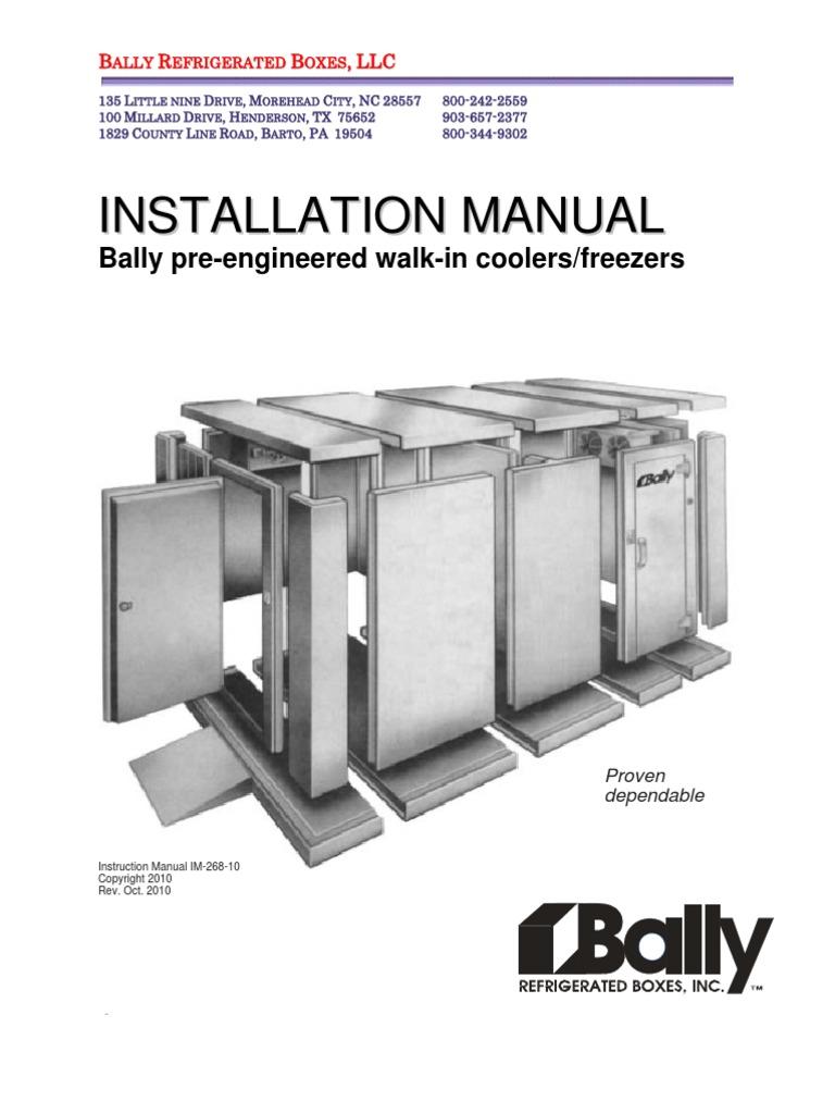 Bally Installation Manual Framing Construction Door
