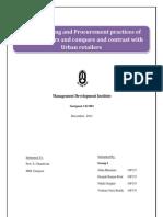 IRM Project Report_ Merchandising & Procurement