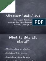 Attacker Math