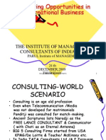 Consulting Opportunities in International Business