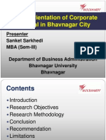 Market Orientation of Corporate Hospital in Bhavnagar City