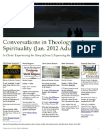 Conversations in Theology and Spirituality (Jan 2012)