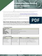 Data Center Infrastructure SLA Template