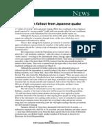 21dec11 Public Health Fallout From Japanese Quake