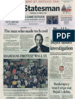 Oct 6, 2011, Idaho Statesman Front Page