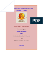 B.ed. Revised Syllabus 2011-12