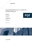 Using Defined Processes as a Context for Resilience Measures