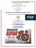 Battle of the Boroughs Holiday Classic 2011 Flyer