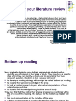 Reading for Your Literature Review