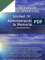 Administración de la Memoria Virtual