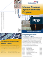 Internal Revenue Agent Certificate Program Brochure