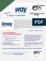 Catalogo y Oportunidad Amway 2011-2012 Colombia